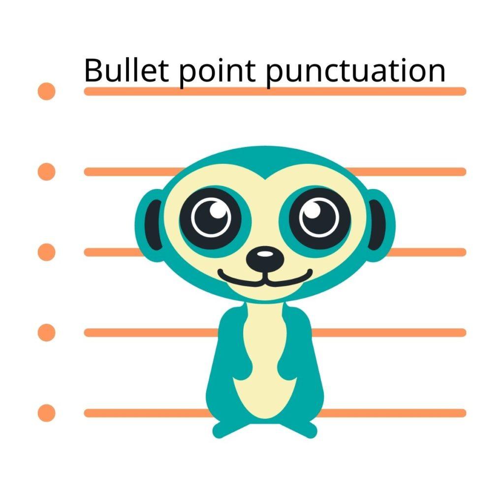 Bullet point punctuation Suricata