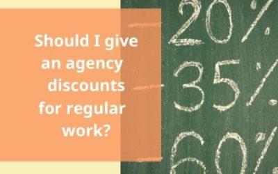 Should I give an agency translation discounts for regular translation work?