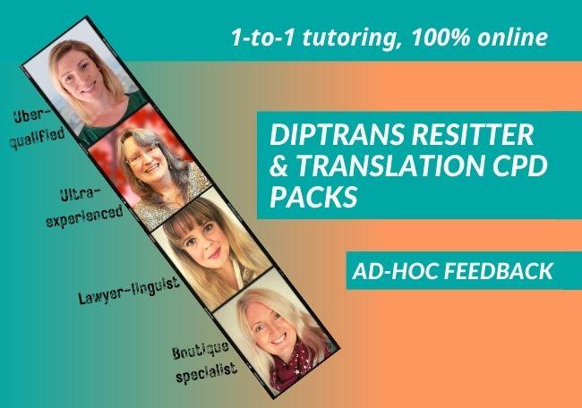 DipTrans Resitter and Translator CPD Packs Shop Image